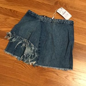 Zara: Denim Skirt with Fringe